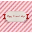 March 8 international Womens Day greeting Banner vector image