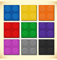 nine colors of square blocks vector image
