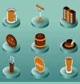 oktoberfest color isometric icons vector image vector image