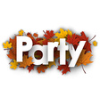 Party background with maple leaves vector image