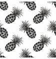 Pineapple hand drawn seamless pattern fruits