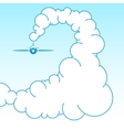 Plane in the sky in the clouds vector image vector image