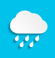 rain icon with cloud and drop vector image vector image