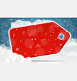 red christmas sale background vector image