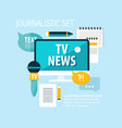 reporter flat concept vector image vector image