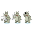 Rhino Mascot with laptop vector image vector image