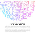 sea vacation line concept vector image vector image