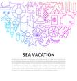 sea vacation line concept vector image vector image