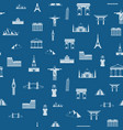 seamless pattern of the attractions of the world vector image