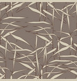 seamless pattern with grass on a brown background vector image vector image