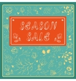 Season sale inscription with floral background vector image vector image
