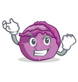 Successful red cabbage character cartoon