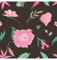 Summer Floral Pattern on Brown Background vector image vector image