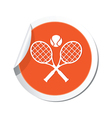 tennis ORANGE LABEL vector image vector image