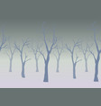 trees with no leaves vector image