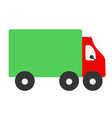 truck flat on white vector image vector image