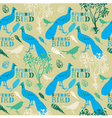 Vintage Spring Birds Pattern vector image vector image