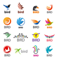 big set of logos birds vector image