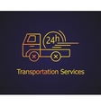 Transportation delivery service vector image