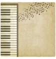 Vintage background with piano vector image