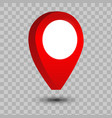 3d map pointer pin isolated vector image