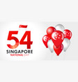 54 years singapore national day banner vector image vector image