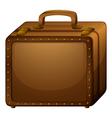 A brown baggage vector image vector image