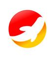 abstract koi fish logo design vector image