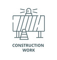 attention construction work line icon vector image vector image