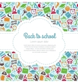 Back to school colorful background with space for vector image vector image