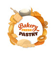 baking bread sweets and pastry vector image vector image