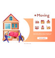 banner moving delivery and linear icons set vector image