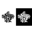 barber shop graffiti tag in black over white and vector image vector image