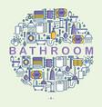 bathroom equipment concept in circle vector image vector image