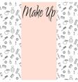 Beauty makeup accessories center banner flyer vector image vector image