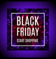 black friday advertising banner with light bokeh vector image vector image