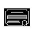certificate icon image vector image vector image