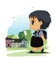 Children to school vector image vector image