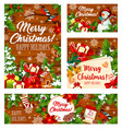christmas holiday gifts on wooden background vector image vector image