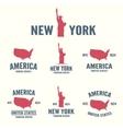 collection new york america usa icon or logo vector image vector image