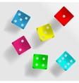 Colorful dice vector image vector image