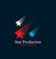 colorful three stars logo design vector image vector image