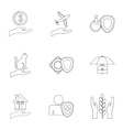 Confidence icons set outline style vector image vector image
