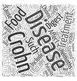 Crohn s Disease Symptoms and Treatment text vector image vector image