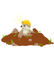 cute groundhog day background vector image