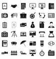 department equipment icons set simple style vector image vector image