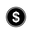 dollar flat icon currency icon vector image vector image
