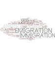 emigration word cloud concept vector image vector image