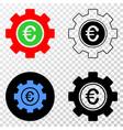 euro gear eps icon with contour version vector image