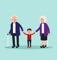 family two elderly with grandchild concept vector image